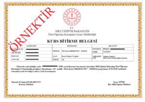 isaret dili sertifikası
