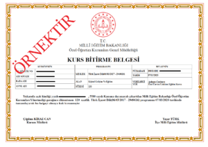 uzaktan egitim isaret dili sertifikası