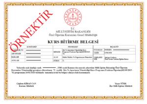 uzaktan egitim site ve apartman yoneticiligi sertifika ornegi